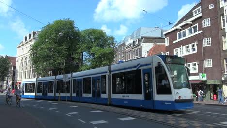 Netherlands-Amsterdam-three-wheel-car-streetcar-and-bikes