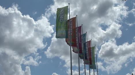Netherlands-Amsterdam-nemo-banner-flaps-against-sky
