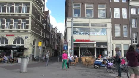 Netherlands-Amsterdam-walking-toward-narrow-street-1