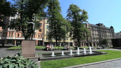 Finland-Helsinki-fountain