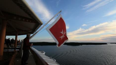 Bandera-Del-Barco-De-Suecia-Con-El-Hombre