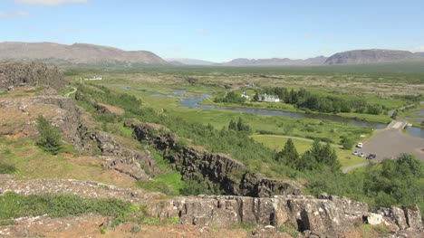 Iceland-Pingvellir-church-in-valley-view