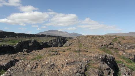 Islandia-Pingvellir-Nubes-Sobre-Vista-De-Rift