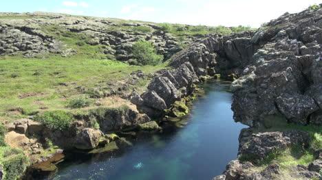 Iceland-Pingvellir-rift-with-waterfall