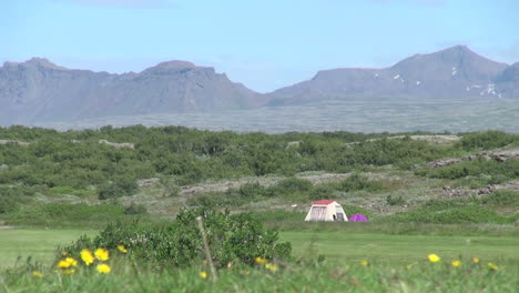 Iceland-Pingvellir-tent-and-mountains