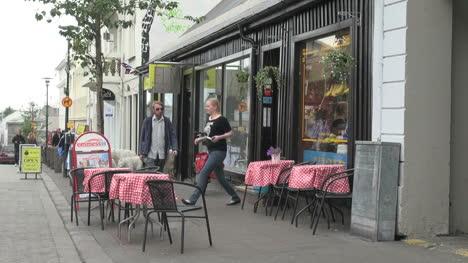 Iceland-Reykjavik-street-with-tables