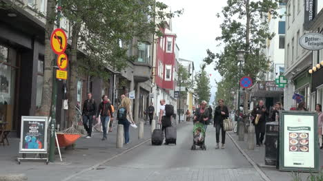Iceland-Reykjavik-street-scene-with-baby-carrage