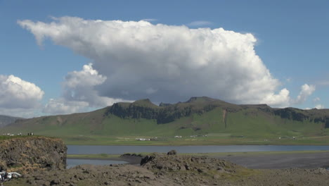 Iceland-Dyrholaey-clouds-over-mountain