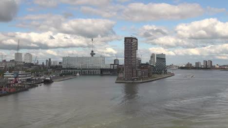 Netherlands-Rotterdam-angular-island-with-highrise