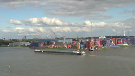 Netherlands-Rotterdam-low-barge-shipyard-and-containers