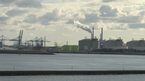 Netherlands-Rotterdam-refinery-smoke-rising-from-cylindrical-tanks-12