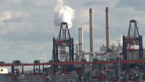 Netherlands-Rotterdam-refinery-smokestack-and-derricks-8