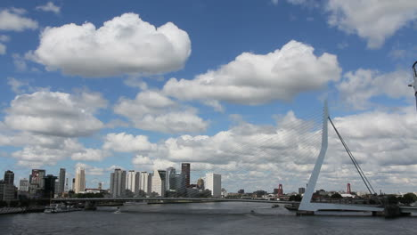 Netherlands-Rotterdam-bridge-and-clouds