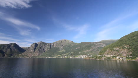 Norway-Aurlandsfjord-with-blue-sky-c