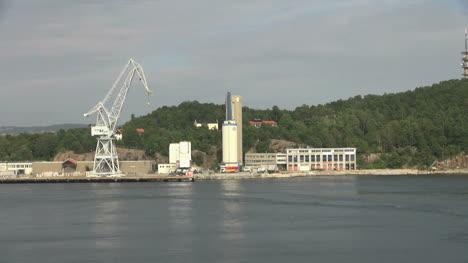 Norway-Kristiansand-crane-and-storage-tanks