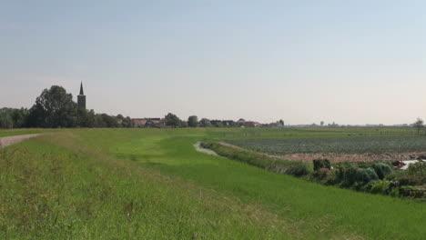 Netherlands-grass-around-garden-near-village