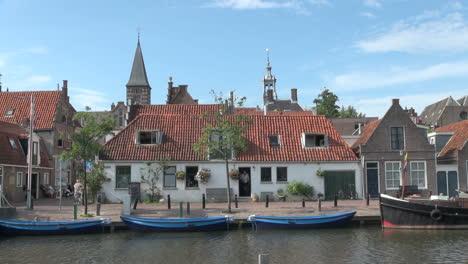Netherlands-Edam-blue-skiffs-and-terra-cotta-roof