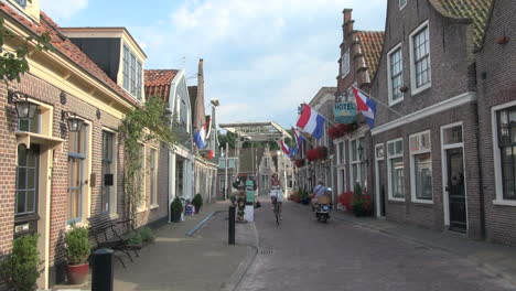 Netherlands-Edam-flags-on-hotel-and-bikes-1