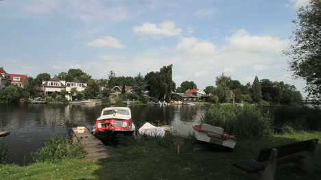 Netherlands-docked-boats-across-canal-from-village-3
