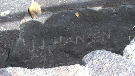 Idaho-JJ-Hansen-name-on-rock