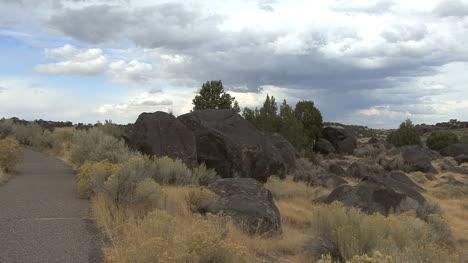 Idaho-Massacre-Rocks-and-clouds