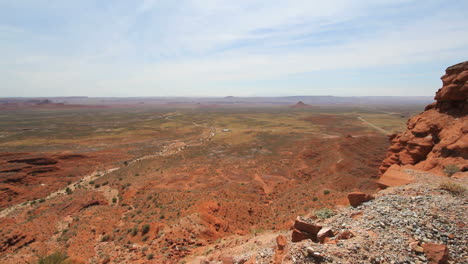 Utah-View-out-over-flat-land-from-Cedar-Mesa-c