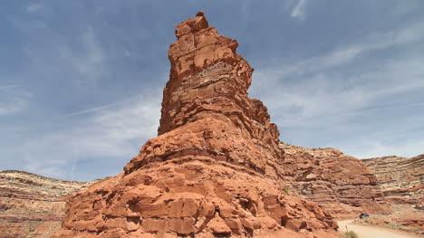 Utah-rock-spike-on-the-road-up-Cedar-Mesa-c