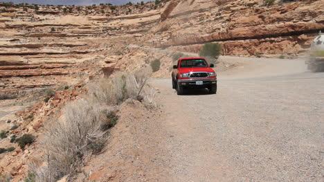 Utah-Trucks-on-the-road-up-Cedar-Mexa