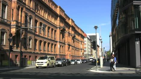 Berlin-traffic-stopped-bikers-pass