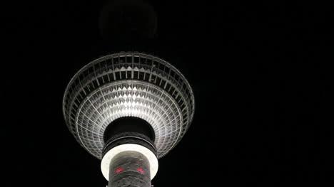 Germany-Berlin-Fernsehturm-from-below-lit-at-night