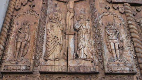 Romania-monestery-doors-with-carved-wood-crucifictionn-cx