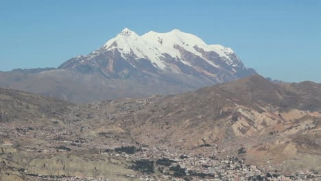 La-Paz-and-Illimani-with-snow-covered-summit