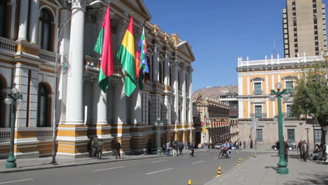 La-Paz-flags-at-govenment-palace-c