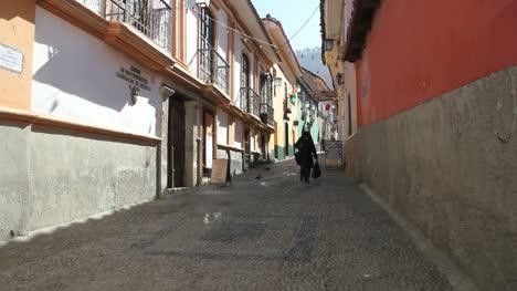 La-Paz-back-street-woman-with-bag