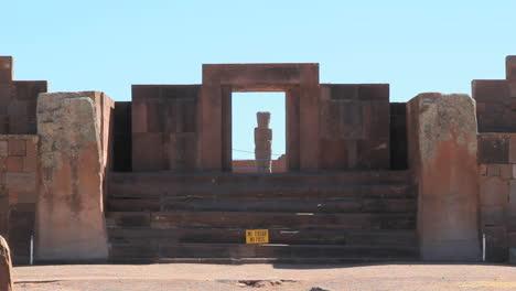 Bolivien-Tiahuanaco-Steinfigur-C