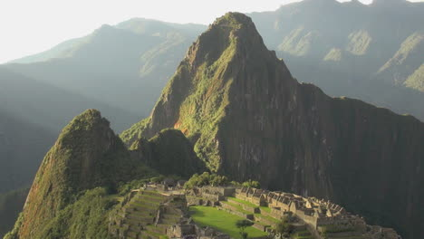 Machu-Picchu-evening-view-of-rock-spike