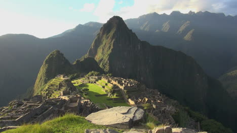 Machu-Picchu-evening-rock-slab-in-foreground-s