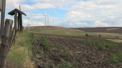 Washington-Klickitat-County-fence-posts-and-wind-farm-4