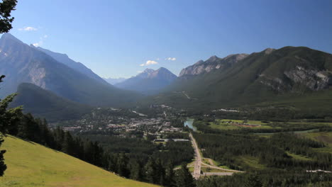 Canada-Banff-town-below