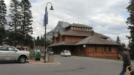 Kanada-Banff-Innenstadt-Gebäude-Aus-Holz
