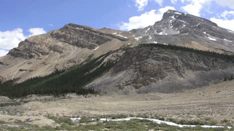 Canada-Icefields-Parkway-stream-from-Bow-Falls-pans-right-s
