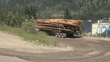 British-Columbia-Adams-Lake-log-truck-on-road