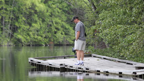 Canada-British-Columbia-Echo-Lake-man-walks-on-dock-9