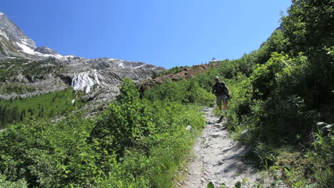 Canada-British-Columbia-Glacier-National-Park-hiker-approaches-1