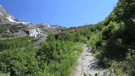 Canada-British-Columbia-Glacier-National-Park-hiker-on-rough-trail-2