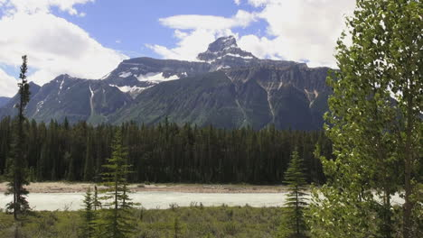 Canada-Icefields-Parkway-Needle-Peak-in-distance
