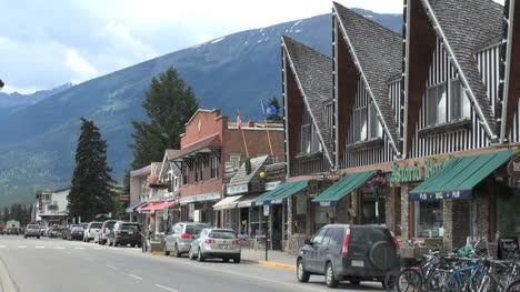 Canada-Alberta-Jasper-Connaught-street-peaked-roofs