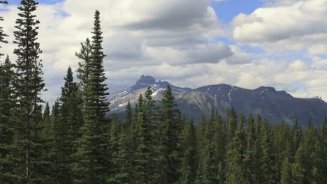 Canada-Alberta-view-of-mountains-and-forest-