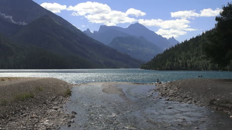 Canada-Waterton-Lakes-NP-with-stream-flowing-into-lake-s