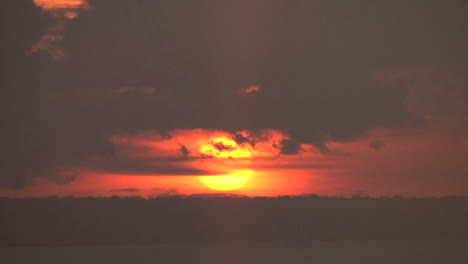 Manaus-orange-ball-of-sunset-on-Rio-Negro